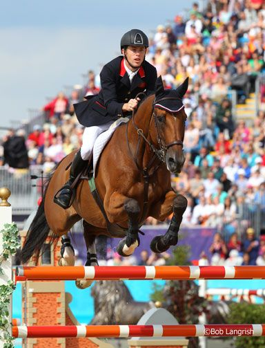 Scott Brash and Hello Santos went double clear today, helping the team from Great Britain win Show Jumping gold.