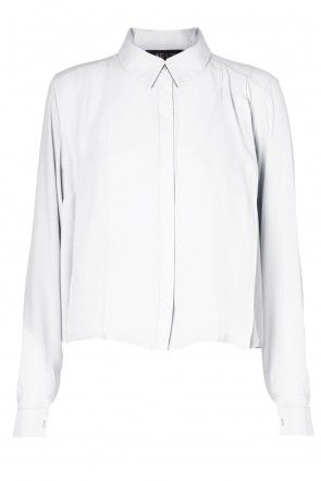 Frankie Chiffon Blouse in White