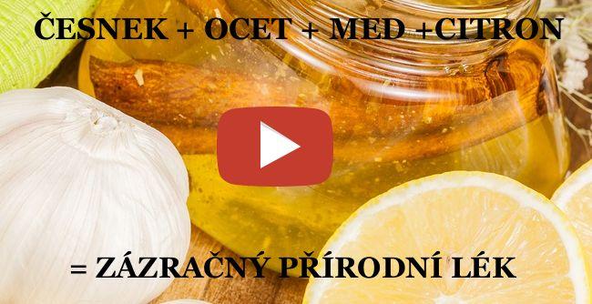 ZÁZRAČNÝ PŘÍRODNÍ LÉK =ČESNEK + OCET + MED +CITRON | LiveFree.cz