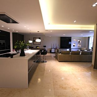 Great lighting from the soffit lights
