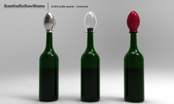 ALIEN bottle opener-corkscrew
