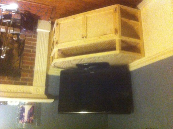 Floating Corner Entertainment Stand | Do It Yourself Home Projects from Ana White