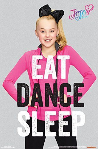 "Trends International Jojo Siwa Eat Dance Sleep Wall Poster 22.375"" x 34"""