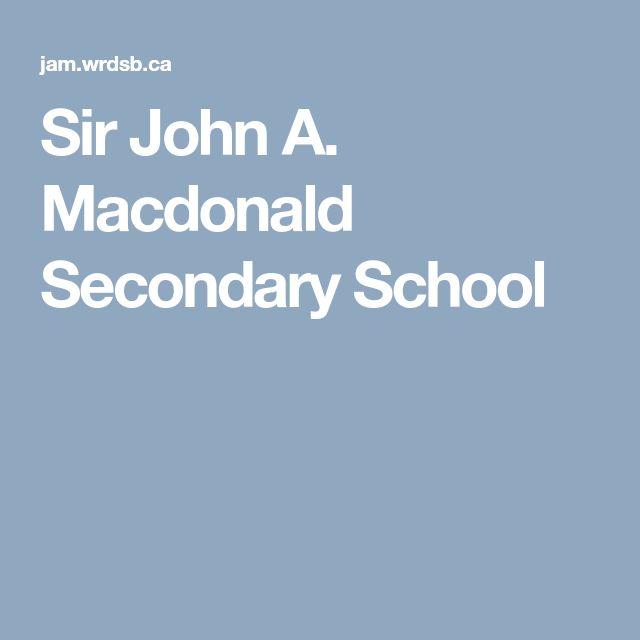 Sir John A. Macdonald Secondary School