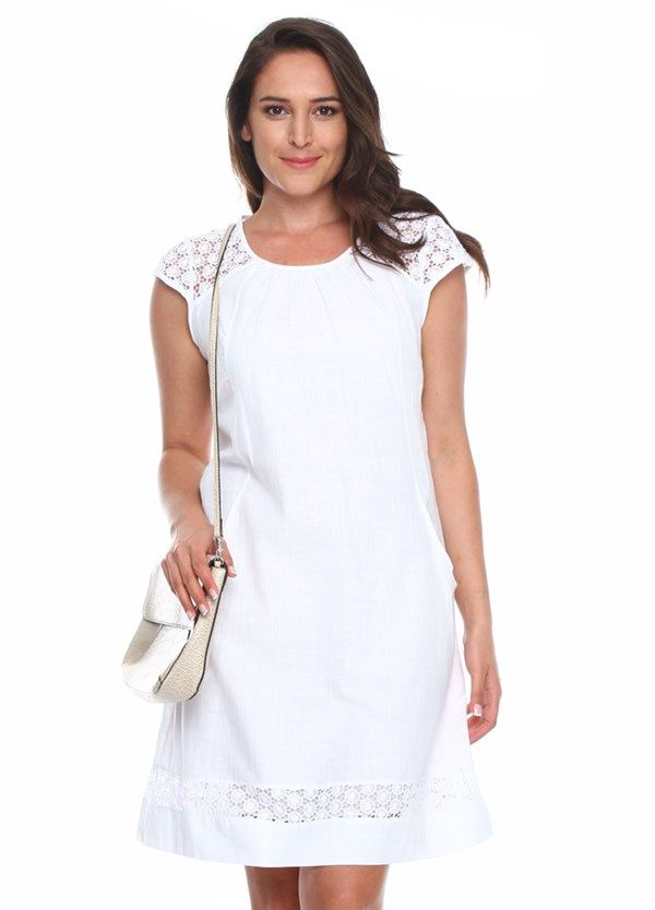 Cepli Gupurlu Beyaz Elbise 546 546beyaz Elbise Elbiseler Satin