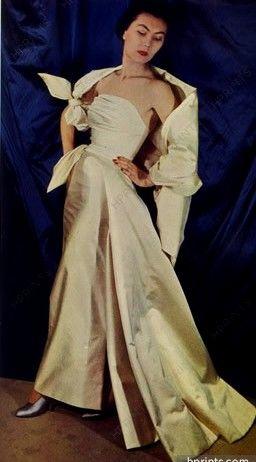 1949 Christian Dior 1949 Photo Moussempès, Evening Gown