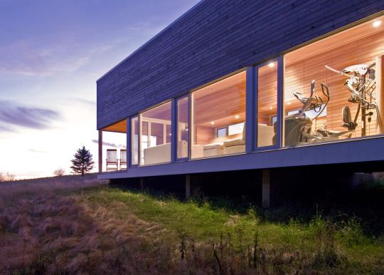 Architects Add Zen Like Timber Spa And Gym To Coastal Nova Scotia Residence