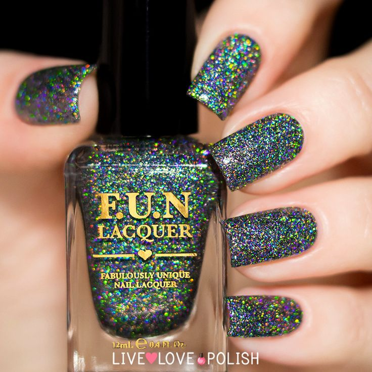 Fun Lacquer Black Holo Witch (H) (Simplynailogical Collection) (PRE-ORDER SHIPS BEFORE 7/15/16)