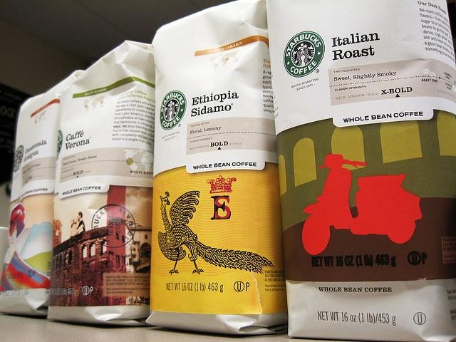 Starbucks - brand consistency among different varieties of coffee | Coffee packaging, Coffee ...
