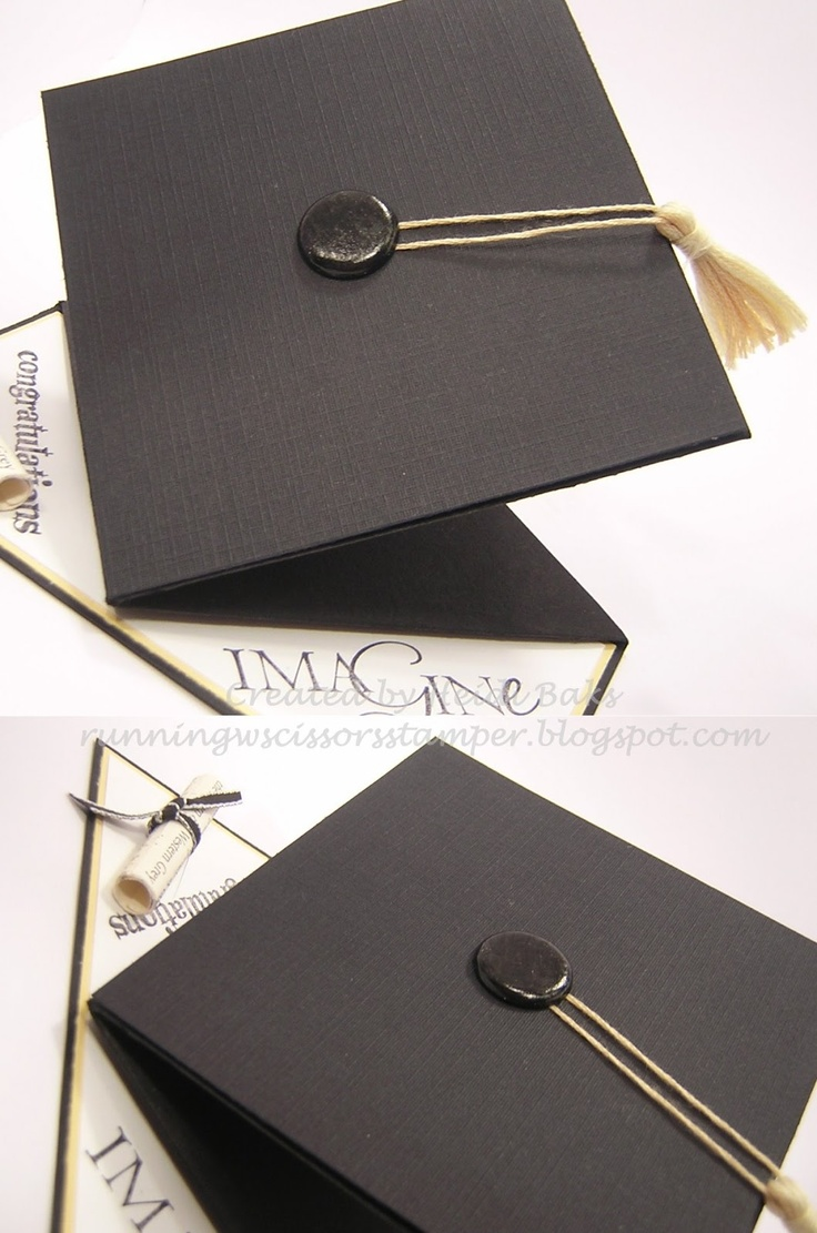 Graduation Card good tutorial...not just for graduation...good idea