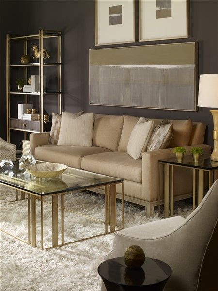 Gold cocktail table and linen sofa with exposed wood leg for 6 furniture legs canada