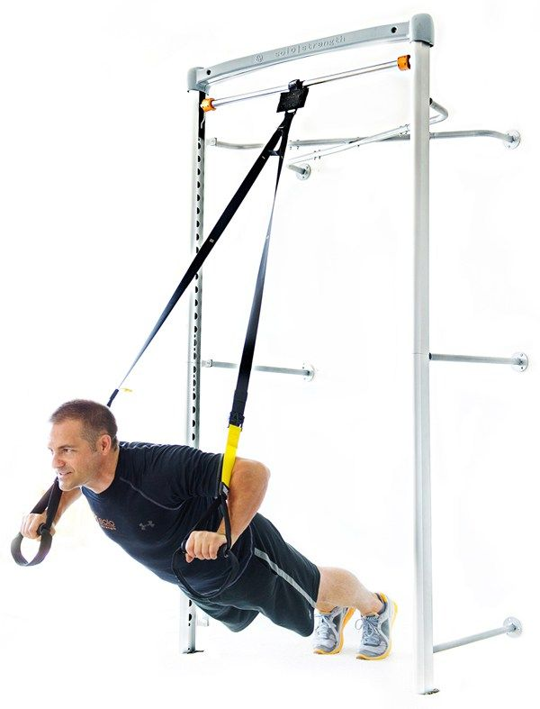Wall mounted adjustable exercise pull up bar TRX anchor system
