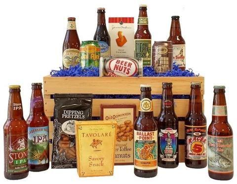 Beer Gift Baskets, Beer Baskets, 12 Pack Beer Basket