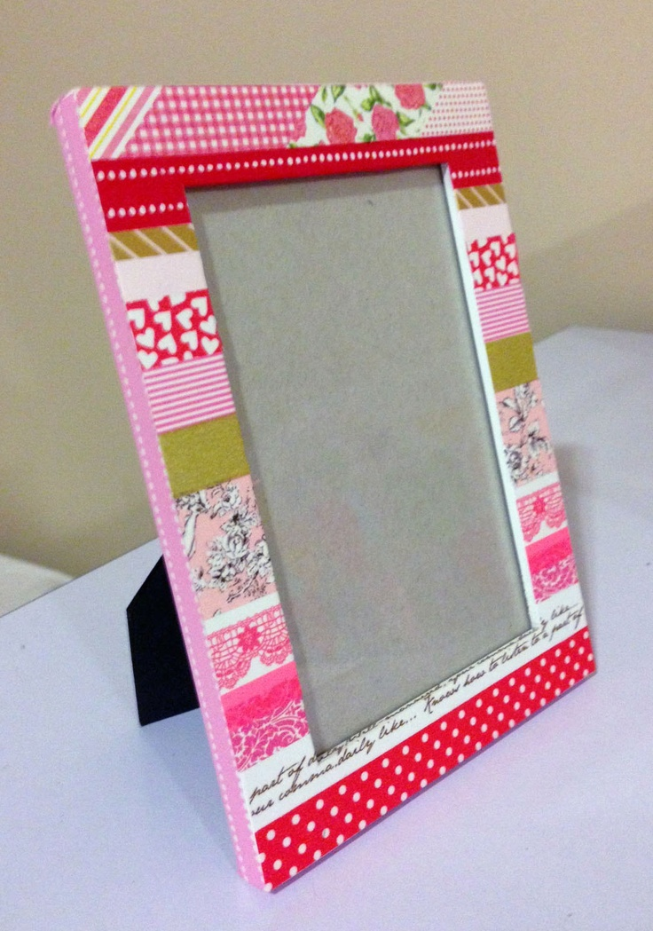 Washi tape frame cupid 39 s valentine washitejp pinterest for What can you do with washi tape