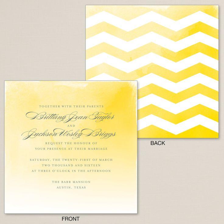 Sunshine Chevron Wedding Invitation | #exclusivelyweddings