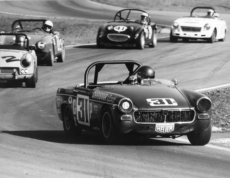 Car 16 - MG Midget race car at the SCCA Championships, the American Road Race of Champions (ARRC) 1971.  Qualified fastest with a lap record but finished 8th when the clutch failed and threatening skies did not produce rain for my rain tires and most other competitors had risked running on slicks.