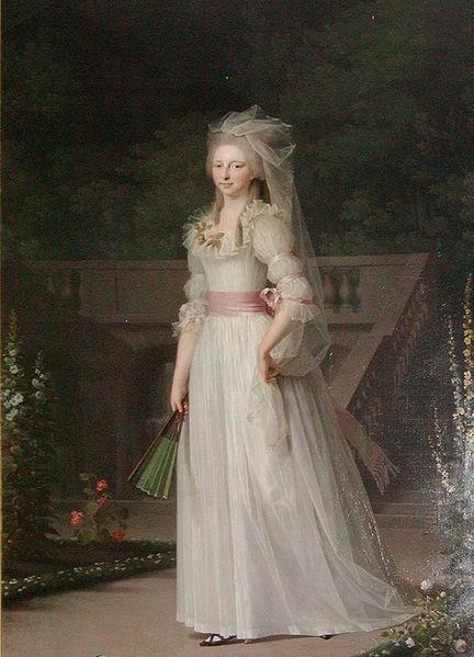 Portrait of Princess Louise Auguste of Denmark by Jens Juel, c1785, Frederiksborg Castle, Hillerød, Denmark