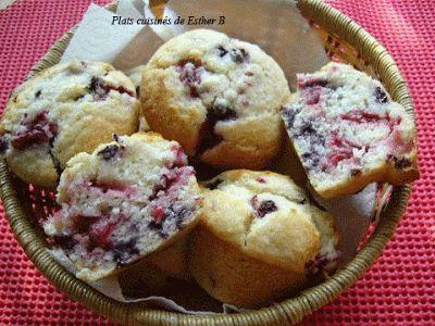 Les plats cuisinés de Esther B: Muffins explosion de fruits