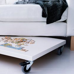 10 Small Space Solutions From The 2012 IKEA Catalog. A PRÄGEL Countertop On  Casters Takes Advantage Of Overlooked Areas Like Under Low Furniture.