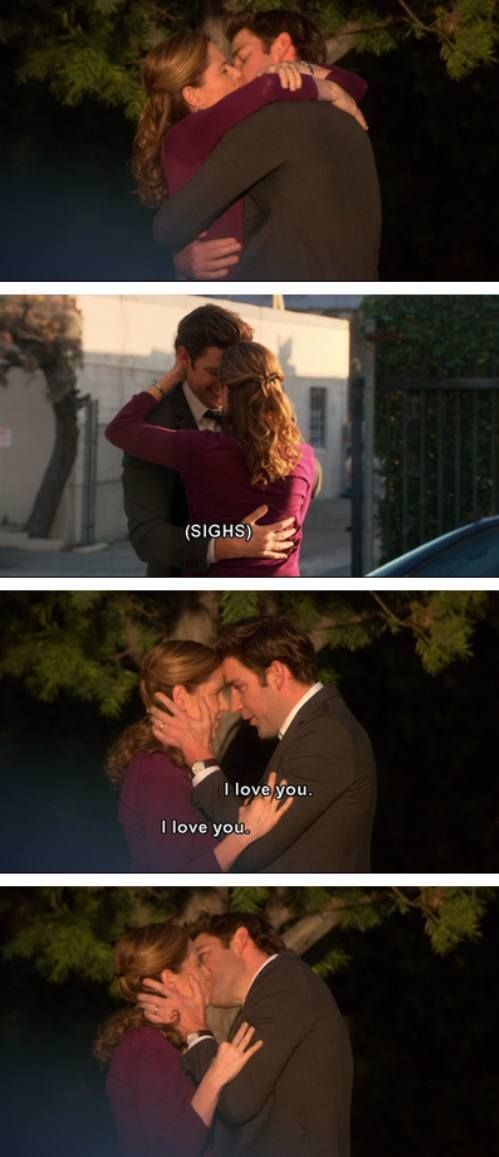 Jim and Pam :).. uuh love this! Those three little words can be so powerful sometimes. .