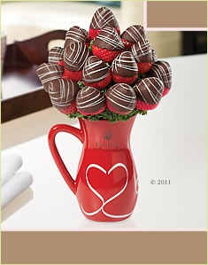 Chocolate dipped strawberry bouquet.  Try this!