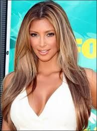 pretty much i've decided to go with this color.: Kimkardashian, Hair Ideas, Hair Colors, Kim Kardashian, Summer Hair, Long Hair, Blondes Highlights, Lights Brown, Hair Style
