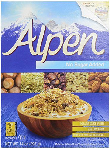 One 14 oz Alpen Cereal, No Sugar Added - http://sleepychef.com/one-14-oz-alpen-cereal-no-sugar-added/
