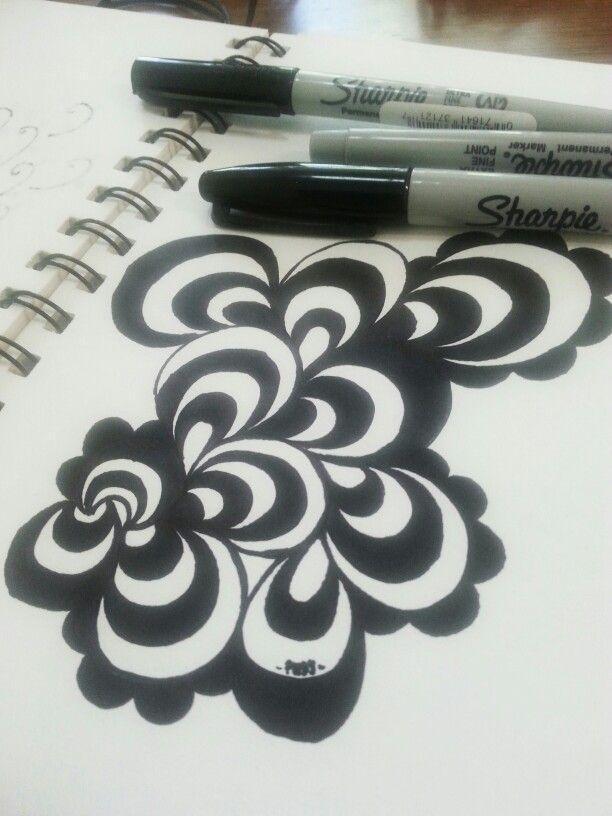 Wavy black and white