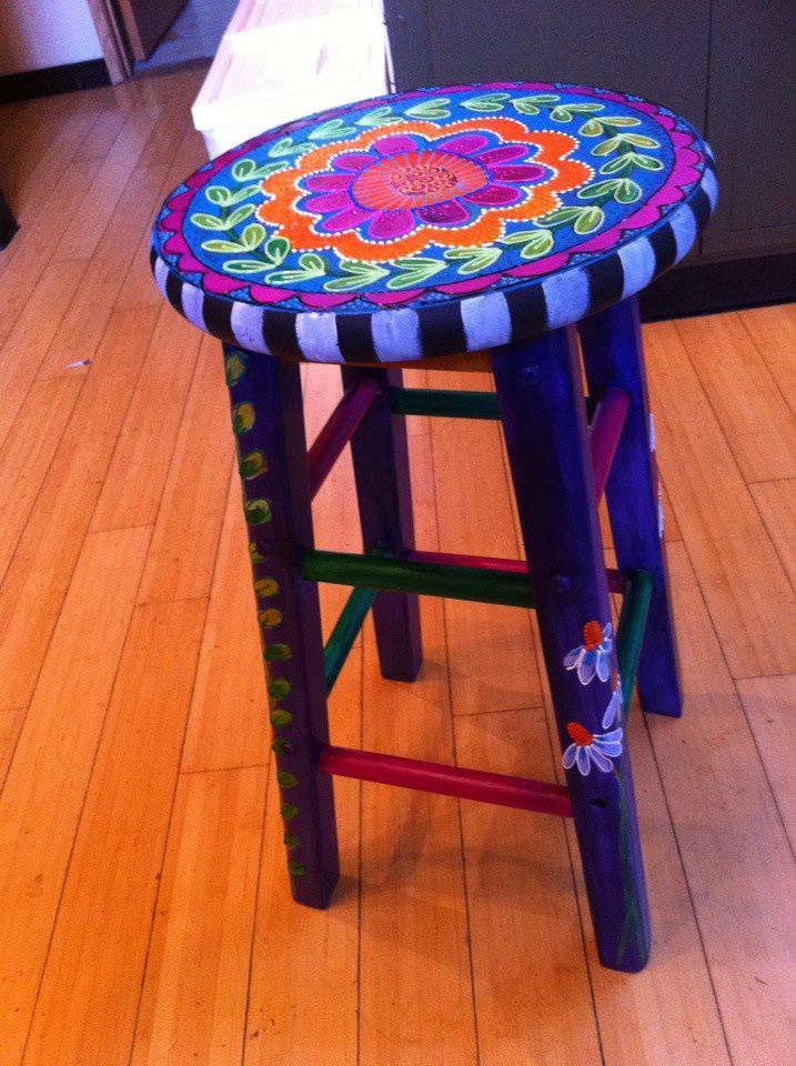 Upcycle Stool By Laurie Miller Designs Upcycled
