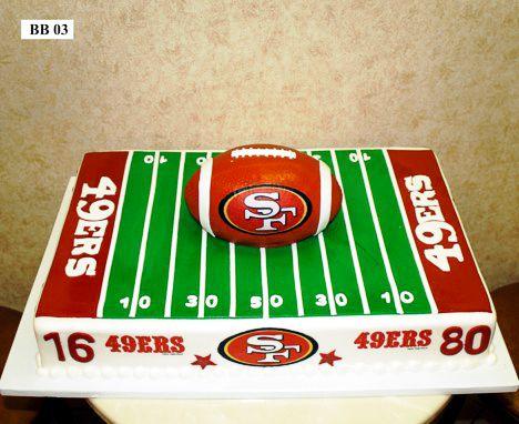 football cake,
