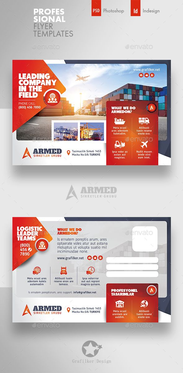 International Postcard Templates PSD InDesign INDD