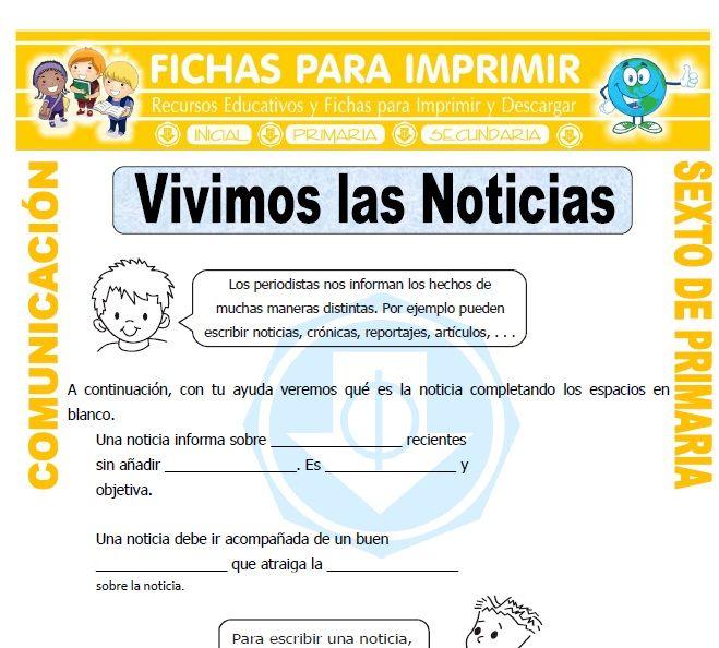 Comunicacion Para Primaria Sexto Grado Fichas Para Imprimir Sexto Grado Ejemplos De Preposiciones Clases De Narracion
