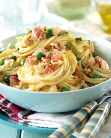 Nathan Robertson, a Team GB Badminton athlete, loves to eat pasta as a pre-competition meal! We recommend this delicious Spaghetti Canto recipe :)