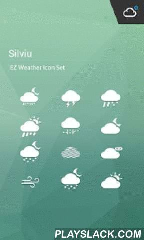Simple Clean Weather Iconset  Android App - playslack.com ,  NOTICE: THIS IS A FREE ICONSET FOR Amber Weather Alsp you need to install AmberWeather Version 0.9 or above to use this iconset.Amber Weather has a simple, clean and beautiful HOLO interface. It's designed for easy using .You can get weather conditions quickly including daily and hourly forecasts for any location.Your best weather app on home screen! ■ FEATURES…