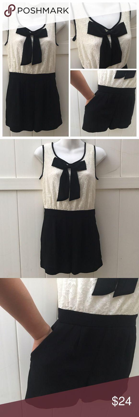Forever 21 black and white romper sz Small Forever 21 black and white romper sz Small/ no flaws Forever 21 Dresses