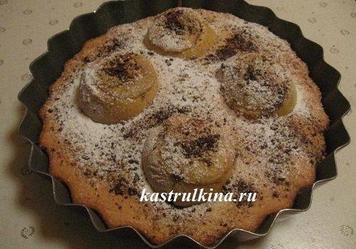 Необычная выпечка - яблоки в бисквите целиком, а внутри нежный крем из орехов. Рецепт с фото.
