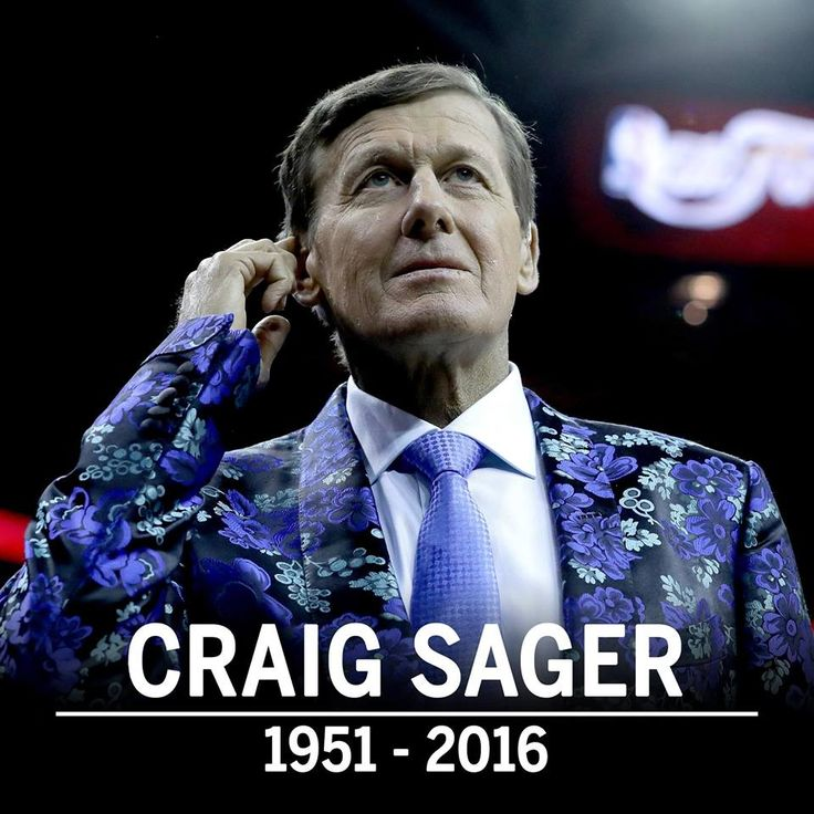 Craig Sager, a beloved broadcaster for Turner Sports and the man with spectacular suits.