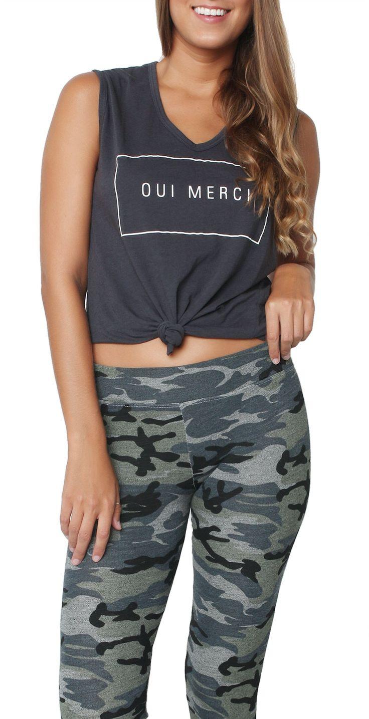 Camo Yoga Pant Heather Grey