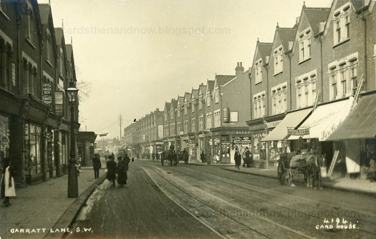 Postcards Then and Now: Wandsworth, South West London, Garratt Lane c1914