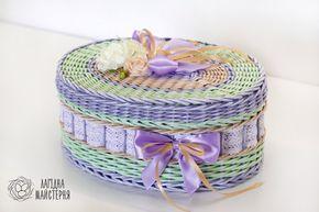 Нежная шкатулка фиолет/зелень