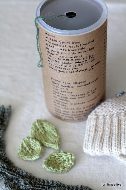 Knitting container made from oatmeal carton / from Lori x 5 blog