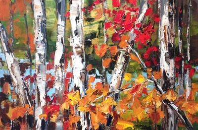 "Kimberly Kiel - End of Season 24 x 36"" oil/canvas"