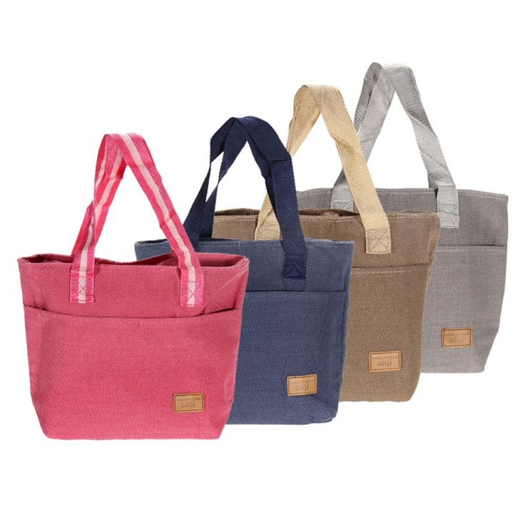 Simple Cotton Linen Lunch Bag Thermal Insulation Bag Picnic Lunch Bags Food Carry Storage Picnic Bag