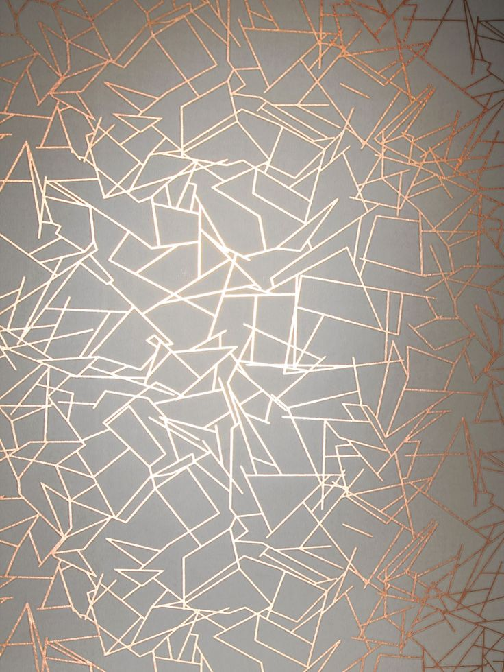 Angles Copper Rose / Zinc Grey wallpaper by Erica Wakerly