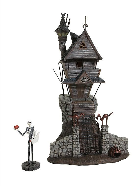 Nightmare Before Christmas Houses.The Nightmare Before Christmas Jack Skellington House Figure