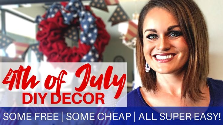 4th Of July Decor Diy Free Or Cheap Easy Patriotic