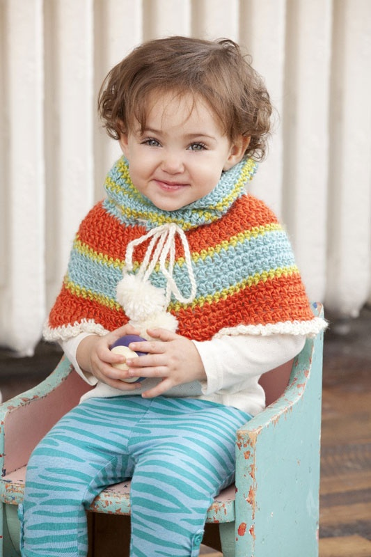 Frutti Toddler Poncho Poncho patterns, Free crochet and ...