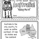 "This ""All About Australia"" booklet can be used for a very basic country study in lower elementary grades! Just print out the pages, have kids cut ..."
