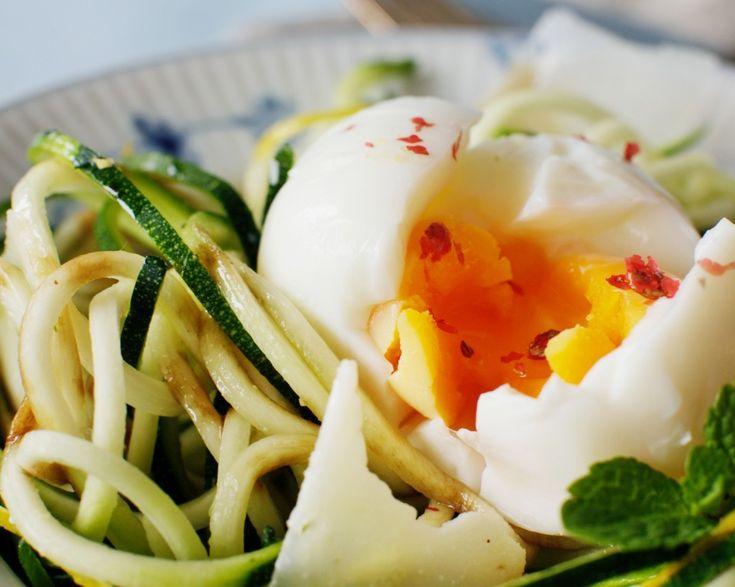 Sund mad på 15 minutter squash æggesalat