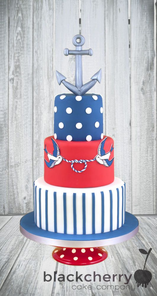 Nautical Tattoo Wedding Cake